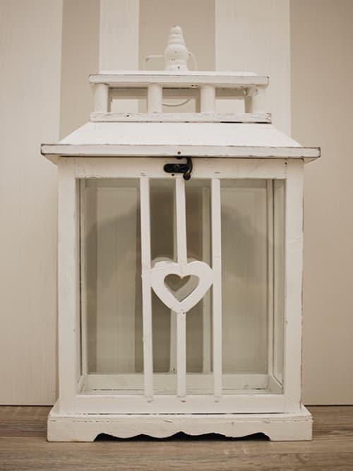 Lanterna in legno bianca - Lorenzongift