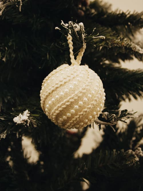 Palla di Natale jewel color crema