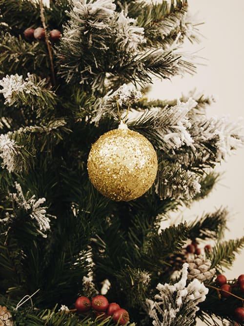 Set 6 palline di Natale in polistirolo oro
