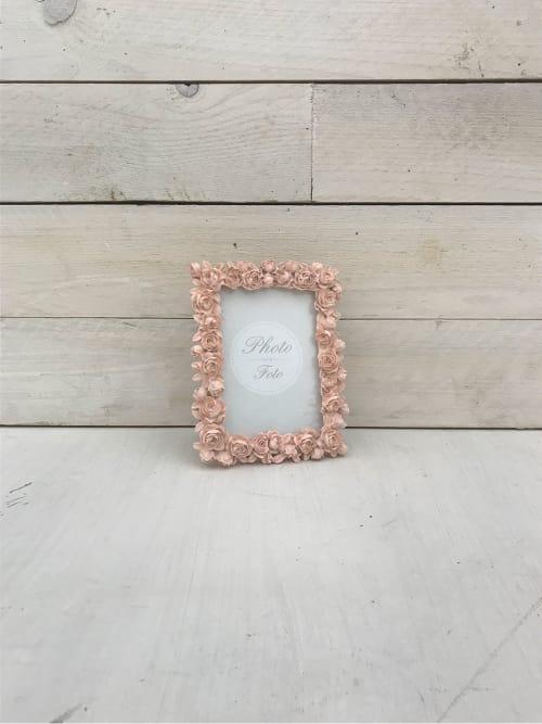 Portafoto con roselline rosa - Lorenzongift
