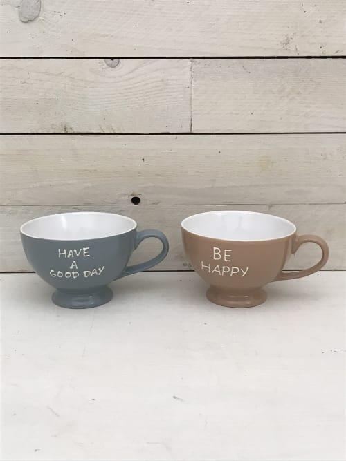Set 2 tazze da colazione azzurra e rosa - Lorenzongift