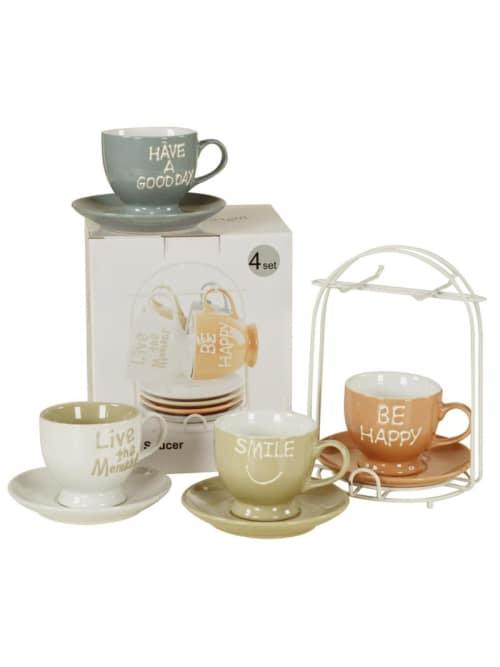 Set 4 tazze per il thè con piedistallo - Lorenzongift