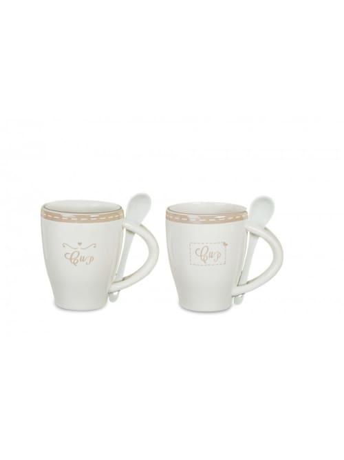 Set due tazze con cucchiaino - Disraeli