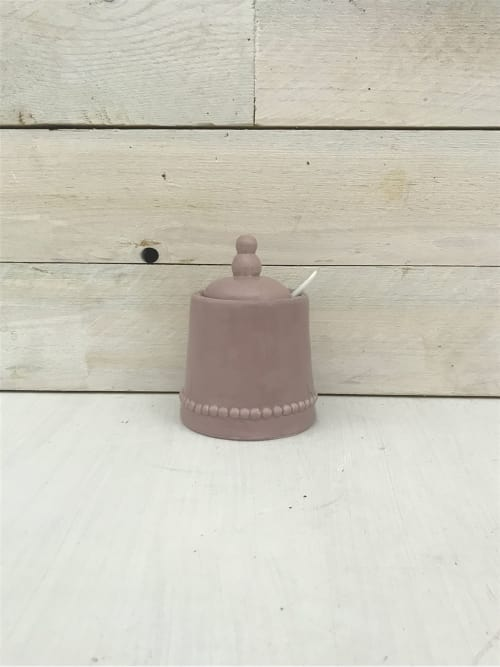 Zuccheriera in ceramica rosa - Lorenzongift