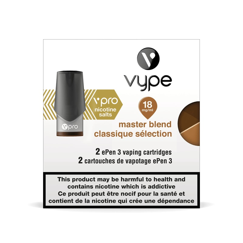 Vype ePen 3 vPro Classic Tobacco (Master Blend) Cartridges (2pk) (18mg)
