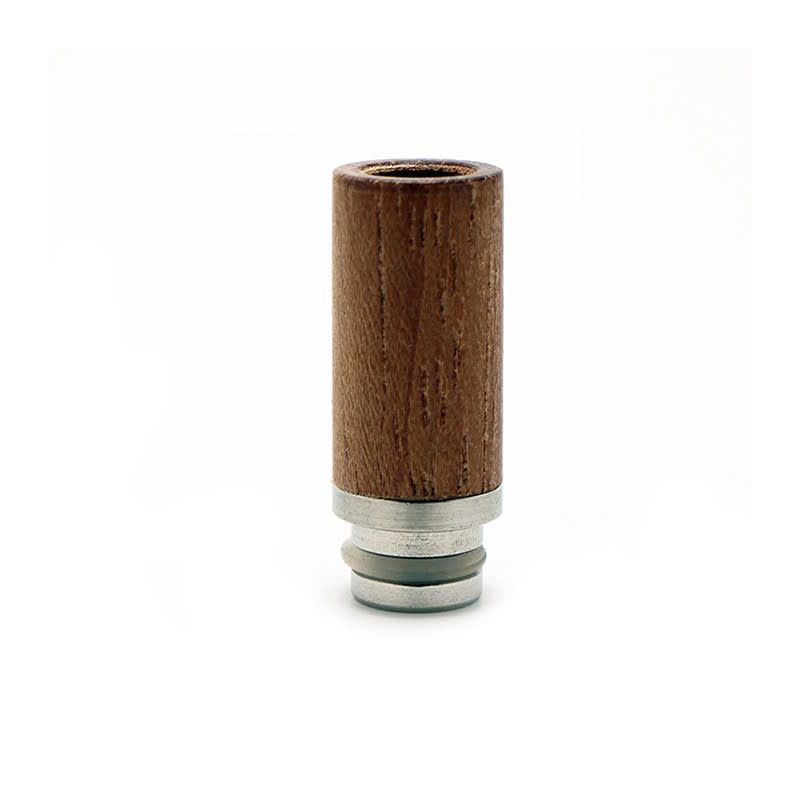Wood Drip Tip with Stainless Steel Base