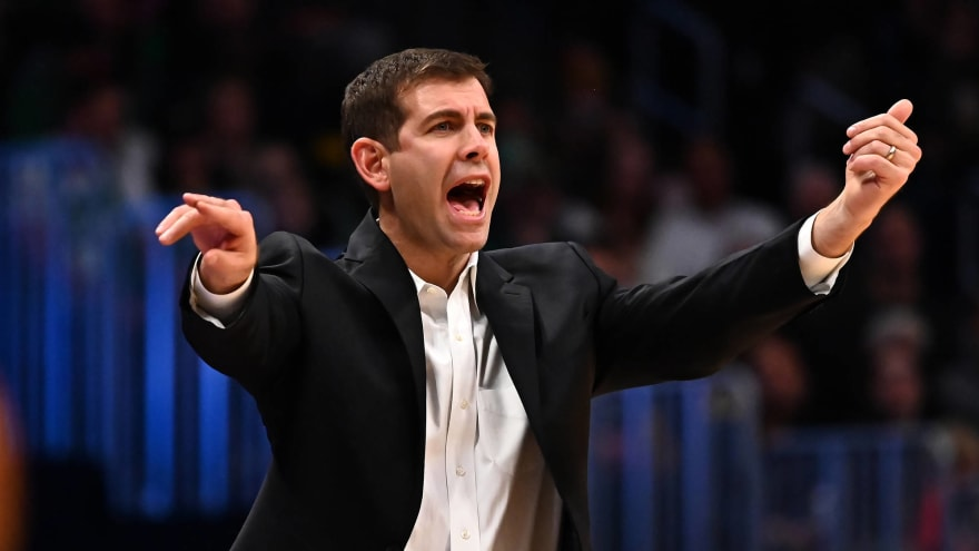 Brad Stevens jokes about getting caught swearing on coach's challenge