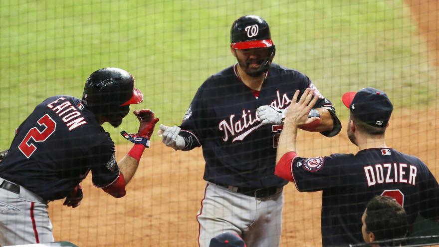 Watch: Kurt Suzuki launches go-ahead HR in Game 2 of World Series