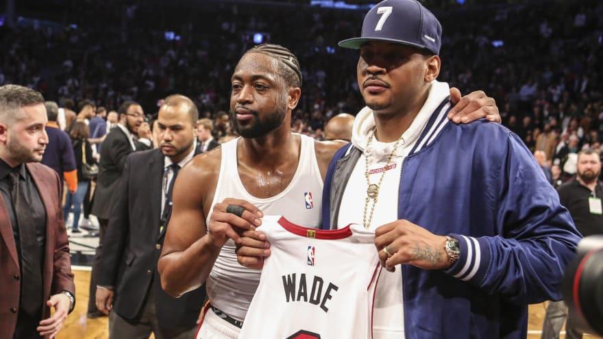 Trainer says Carmelo Anthony wants Dwyane Wade-like farewell season