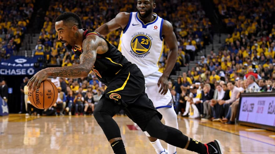best service 2f6c3 d9cc8 WATCH: Warriors fans taunt J.R. Smith with MVP chant during ...