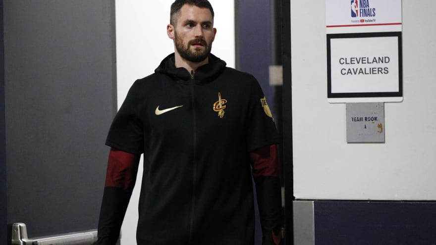 Kevin Love roasted over haircut during Game 2 of NBA Finals | Yardbarker.com