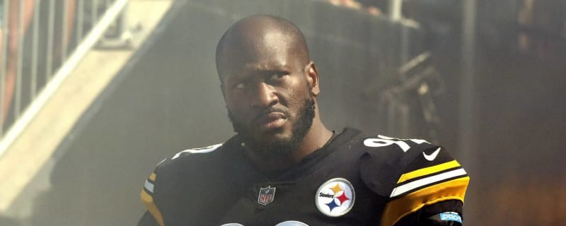 599ec6702 Watch: James Harrison gets huge ovation from Steelers fans at halftime  ceremony