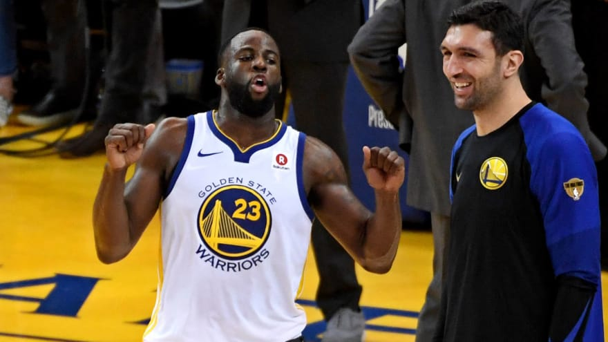 957b651729a Watch Draymond Green taunt LeBron James at end of game