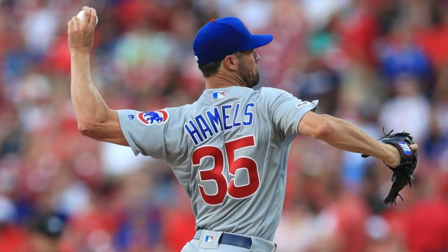 Cubs activate left-hander Cole Hamels for start today, DFA Brad Brach