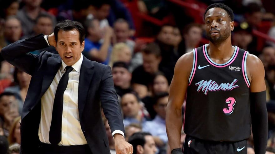 Heat coach: There's a 'level of urgency' for Miami to make playoffs in Dwyane Wade's final season