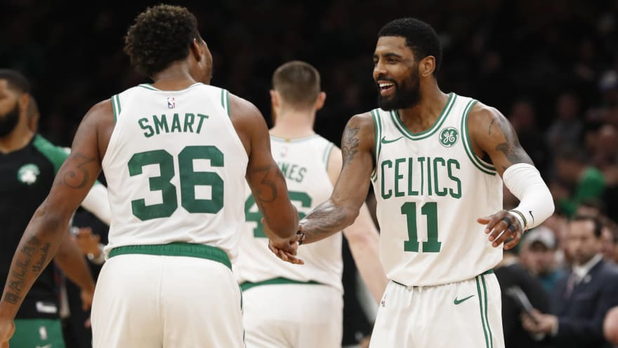 ad447540a782 Marcus Smart defends Kyrie Irving over leadership criticism ...