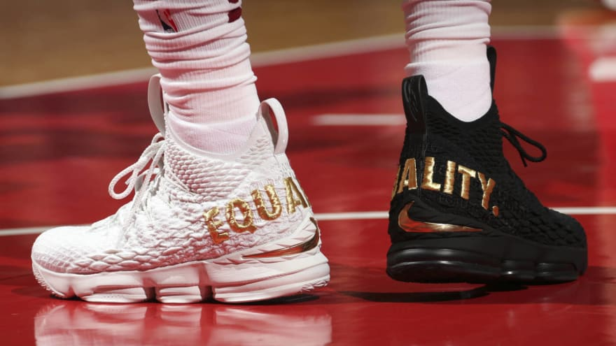 dc685a799026dc LeBron makes social justice statement with  equality  sneakers ...