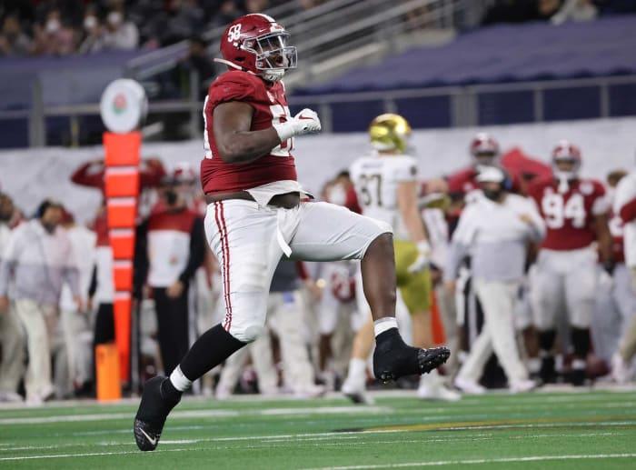 Jacksonville Jaguars (via Rams): Christian Barmore, DT, Alabama