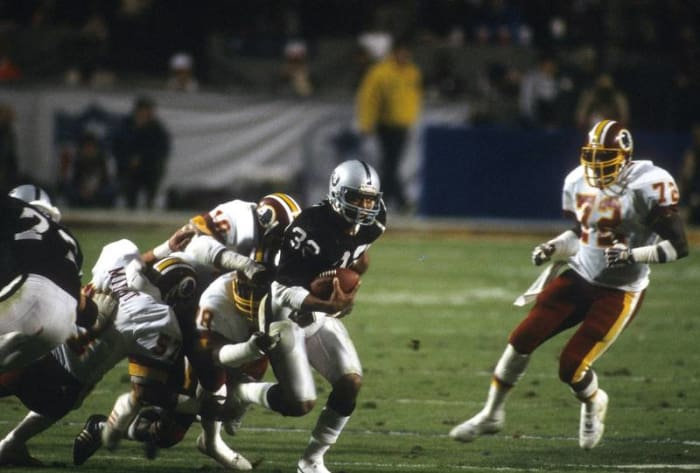 Marcus Allen, RB, Los Angeles Raiders - Super Bowl XVIII