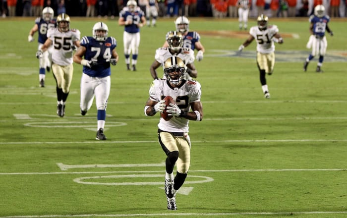 Porter's pick gives Saints first title