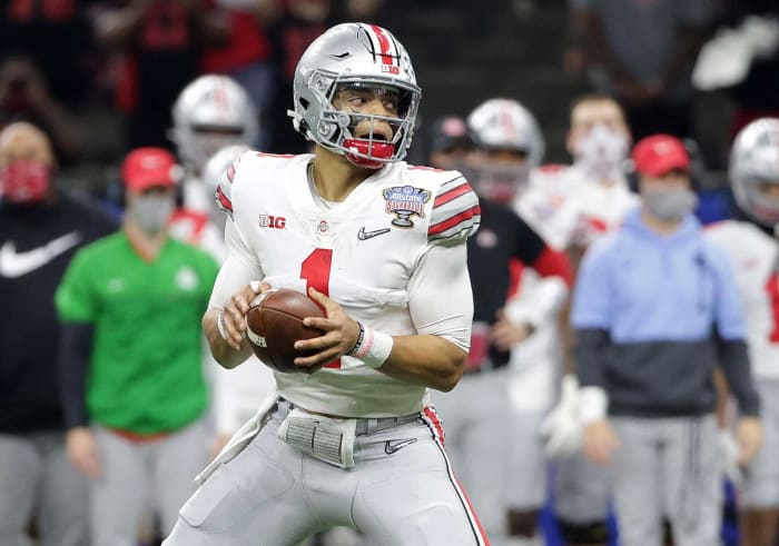 New York Jets: Justin Fields, QB, Ohio State