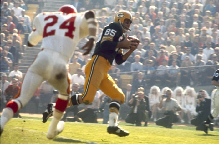 Max McGee scores first Super Bowl touchdown