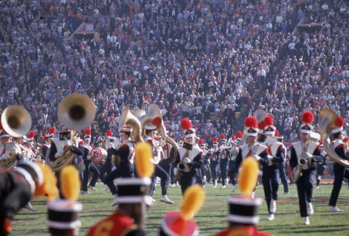 Super Bowl I-III, V, VII-IX, XI-XII, XV, XVII-XIX, XXI halftime show - Marching bands