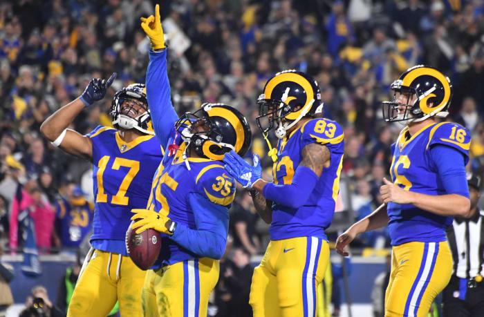 Los Angeles Rams' best look: 1973-99, 2018-19 home