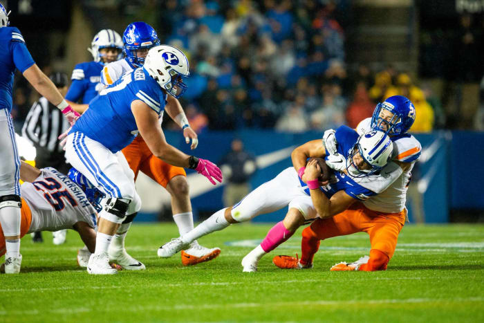 No. 9 BYU (7-0) at No. 21 Boise State (2-0), Friday, 9:45 p.m., FS1