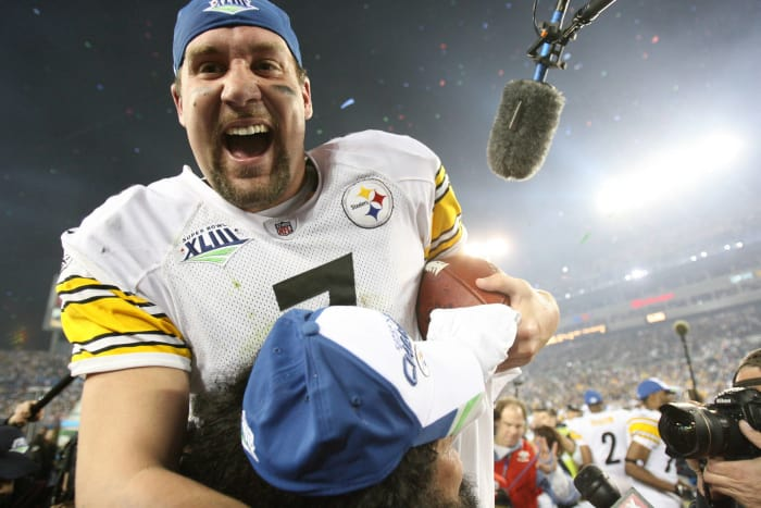 Super Bowl XLIII: Ben Roethlisberger, Pittsburgh Steelers, and Kurt Warner, Arizona Cardinals