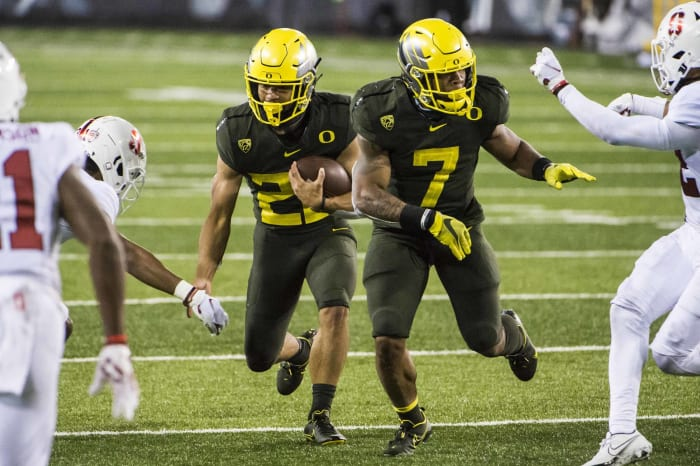 UCLA (1-1) at No. 11 Oregon (2-0), Saturday, 3:30 p.m., ESPN2