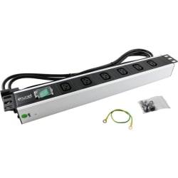 Excel 6-way Horizontal PDU - 6x C13 sockets, C14 plug
