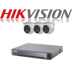 HikVision Turbo HD up to 5MP 4Ch Audio Kit with 3 x 5 MP 40m IR H