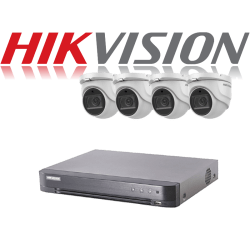 HikVision Turbo HD up to 5MP 8Ch Audio Kit with 4 x 5 MP 40m IR H