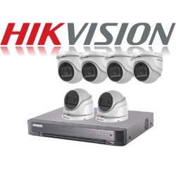 HikVision Turbo HD up to 5MP 8Ch Audio Kit with 6 x 5 MP 40m IR H
