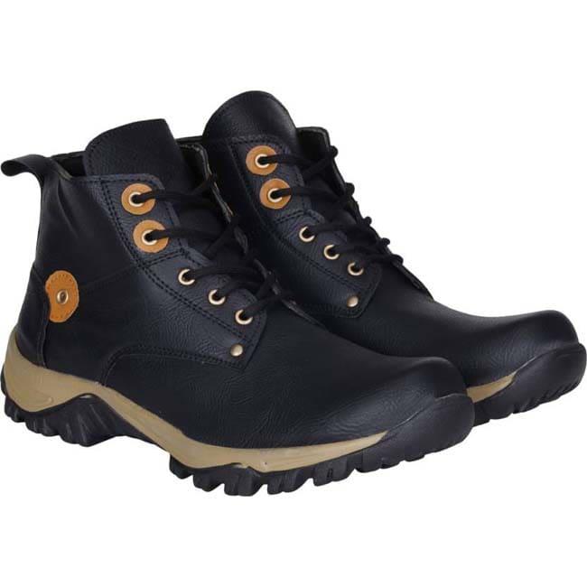 Kraasa Long Bikers Boots, Outdoors, Party Wear  (Black)