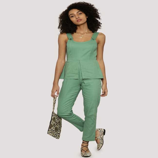 Panelled Peplum Jumpsuit