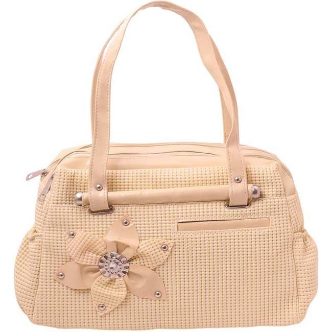 Branded Purse Hand-held Bag  (Beige)