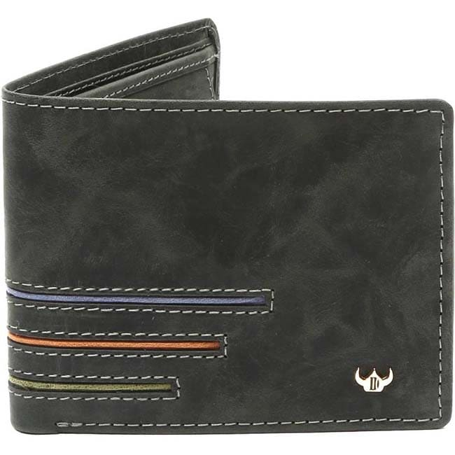 DHide Designs Men Green Genuine Leather Wallet  (13 Card Slots)