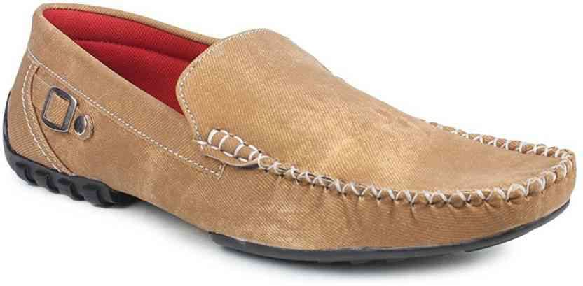 Tapps Loafers - Buy Tan Color Tapps Loafers Online at Best Price - Shop Online for Footwears in India